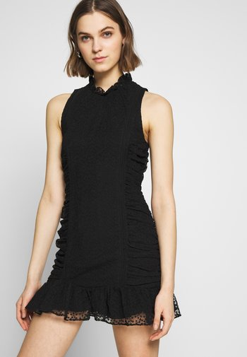 ODETTE MINI DRESS - Korte jurk - black