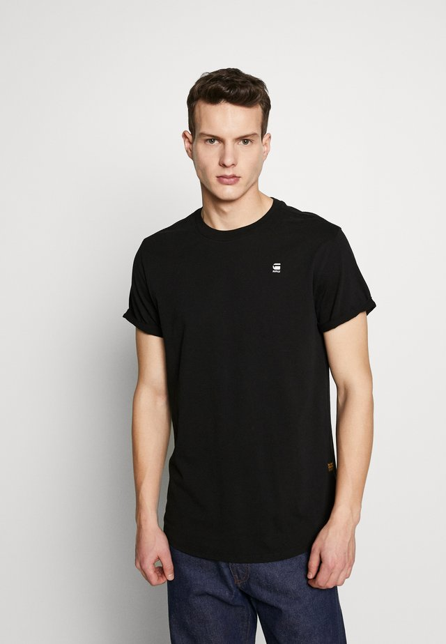 LASH ROUND SHORT SLEEVE - Basic T-shirt - black