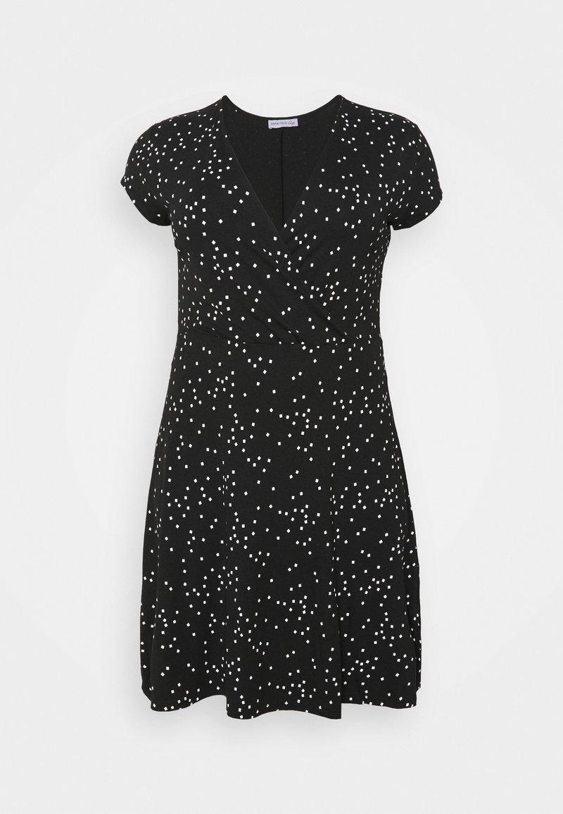 Anna Field Curvy - Day dress - black/white