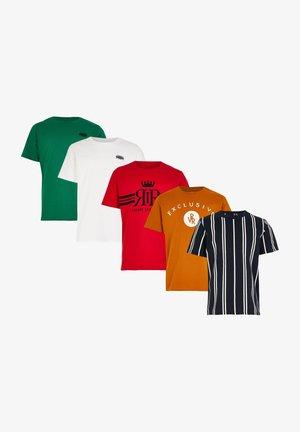 5 PACK - T-shirt med print - black