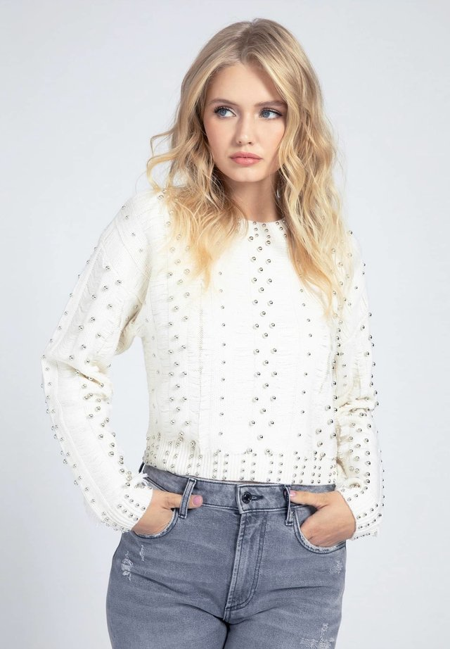 Pullover - mehrfarbig, weiß