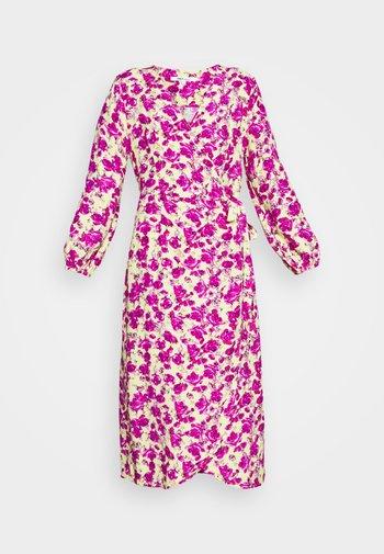 ONLPIO LONG WRAP DRESS  - Vestito estivo - pale green/fuchsia purple