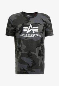 Alpha Industries - Triko spotiskem - black - 3