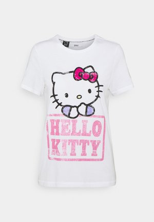 ONLHELLO RAINBOW  - Camiseta estampada - white