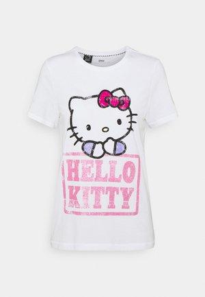 ONLHELLO RAINBOW  - T-shirt z nadrukiem - white