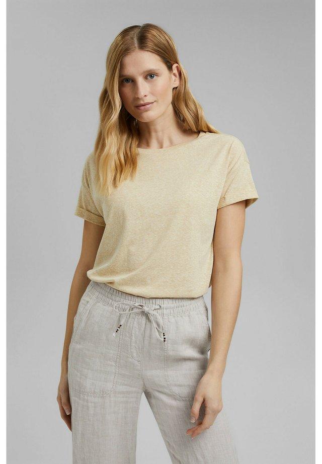 PER COO CLOUDY - T-shirt basic - sand