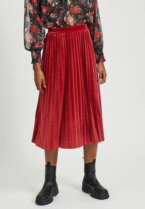 A-line skirt - red dahlia