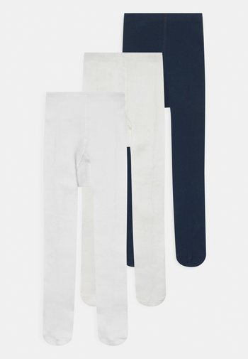 BABY 2 PACK UNISEX - Tights - off white/marine/white
