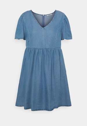 ONLVERA DRESS - Denim dress - medium blue denim