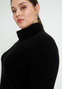 ADIA - ROLLNECK DRESS LONG SLEEVES - Neulemekko - black - 6