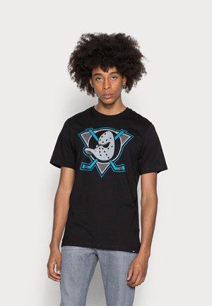 ANAHEIM IMPRINT ECHO TEE - T-shirt z nadrukiem - jet black