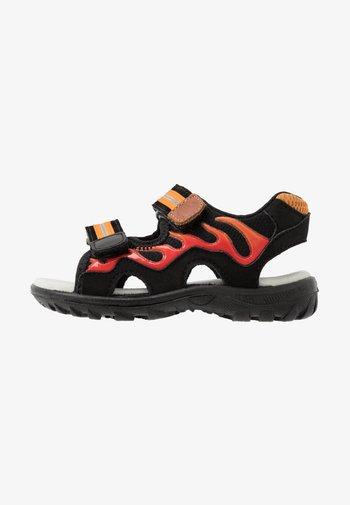 FIREFLY - Chodecké sandály - black