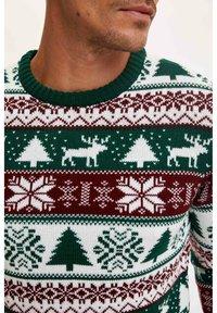 DeFacto - NEW YEAR - Stickad tröja - bordeaux - 2