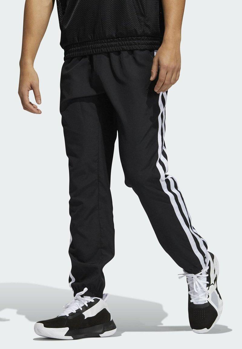adidas Performance - SUMMER AEROREADY PRIMEGREEN BASKETBALL - Spodnie treningowe - black