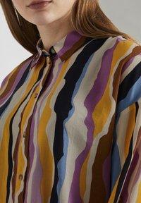 TOM TAILOR DENIM - Overhemdblouse - wavy multicolor stripes - 3