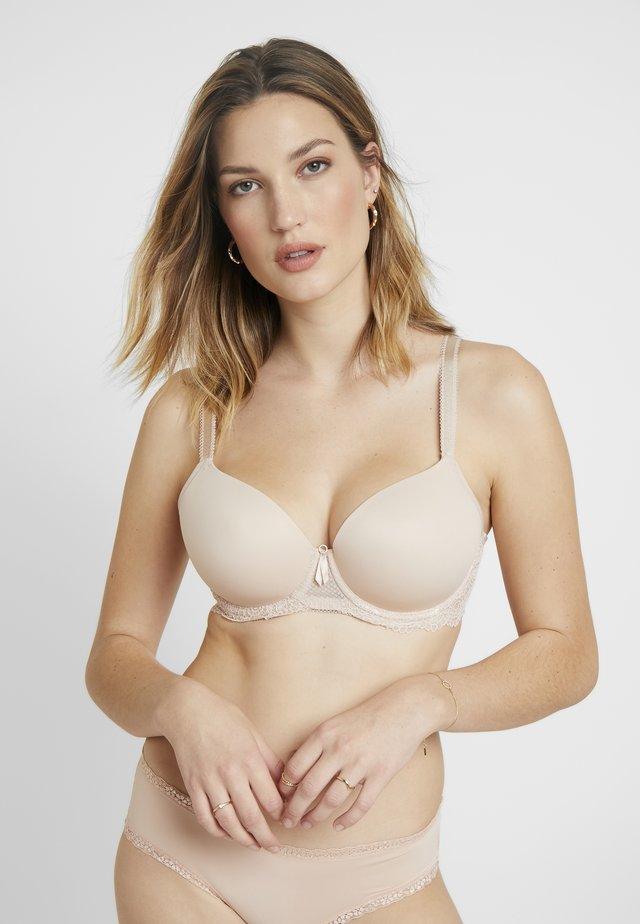 EXPRESSION PLUNGE MOULDED BRA - Underwired bra - natural beige