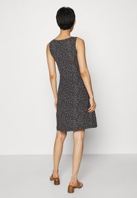 TOM TAILOR - Jersey dress - black/offwhite - 2