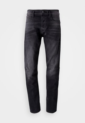 SCUTAR 3D SLIM TAPERED - Tapered-Farkut - nero black stretch- antic charcoal