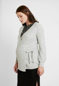 GAP Maternity - SIDE TIE WRAP - Neuletakki - heather grey - 0