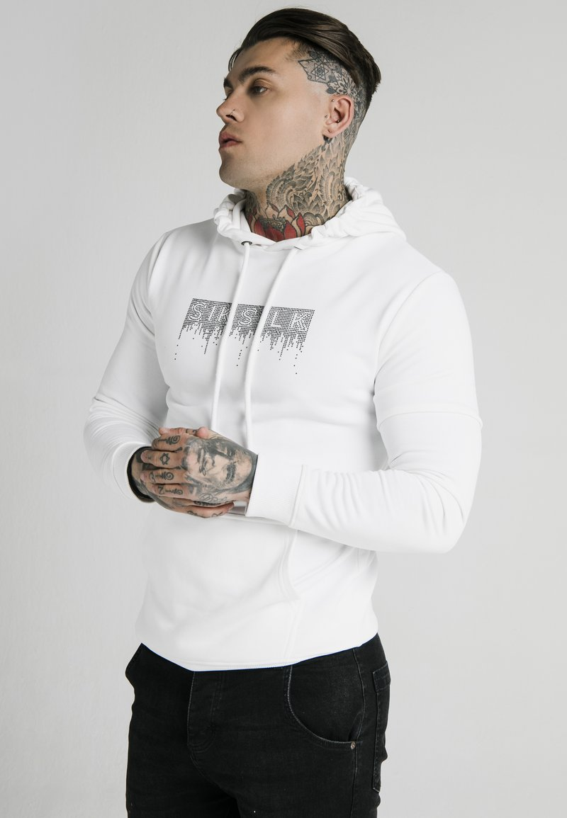 SIKSILK - Hoodie - white