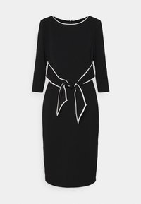 Adrianna Papell - TIPPED TIE DRESS - Cocktail dress / Party dress - black/ivory - 0