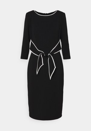 TIPPED TIE DRESS - Cocktail dress / Party dress - black/ivory