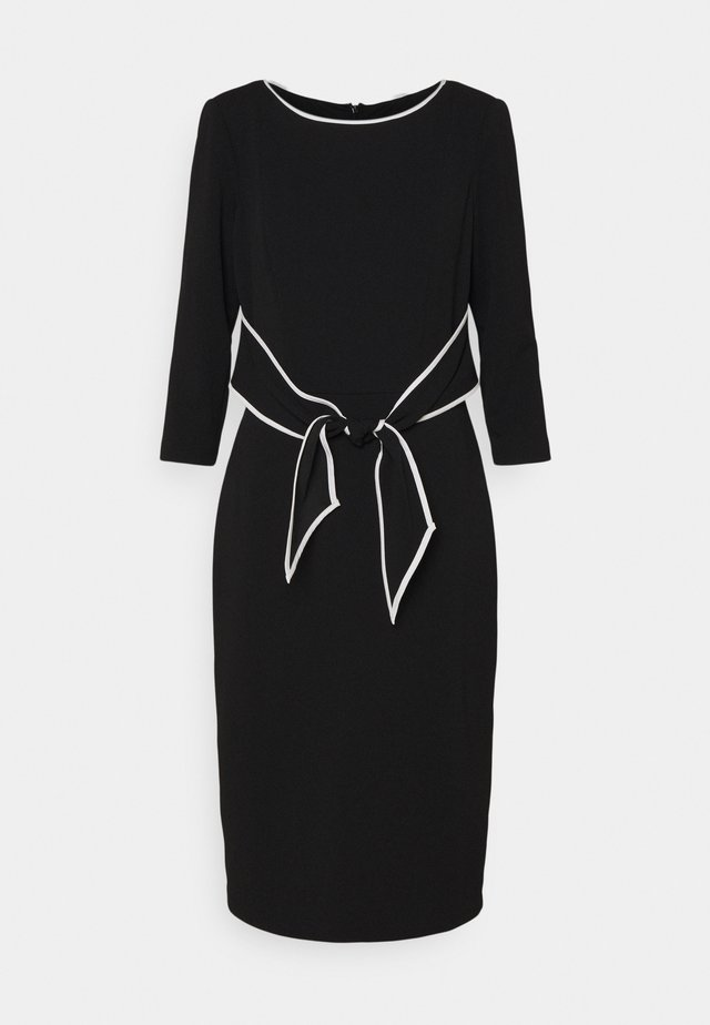TIPPED TIE DRESS - Juhlamekko - black/ivory