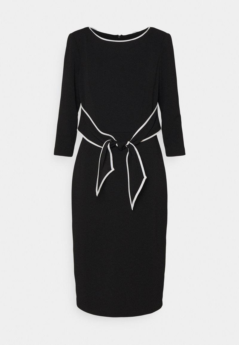 Adrianna Papell - TIPPED TIE DRESS - Cocktail dress / Party dress - black/ivory