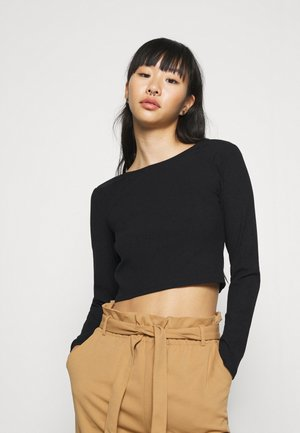 TANIA - Long sleeved top - solid black