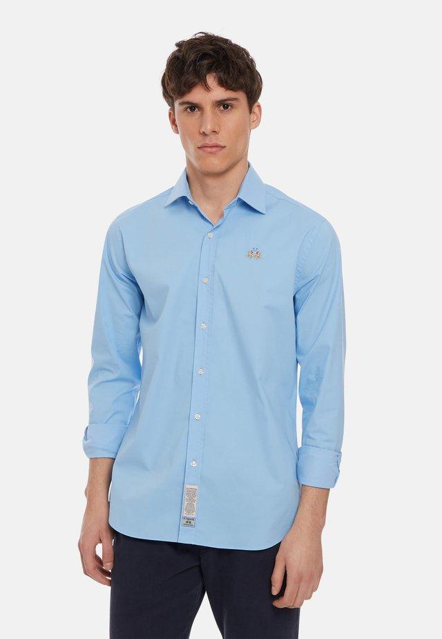 Shirt - blue bell