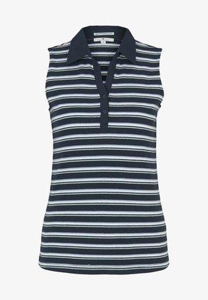 Piké - navy mint irregular stripe
