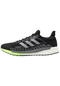 adidas Performance - SOLAR GLIDE BOOST SHOES - Neutral running shoes - core black/silver metallic/signal green - 5