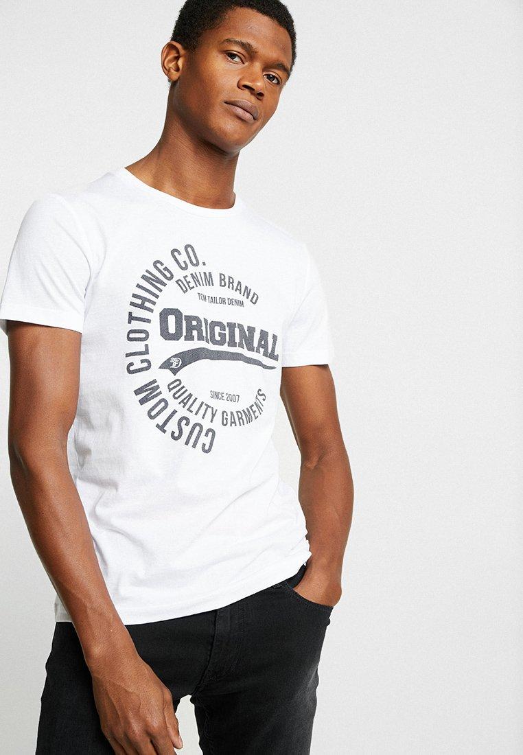 Men Print T-shirt - white