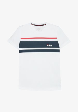 TREY BOYS - Triko s potiskem - white/peacoat blue/fila red