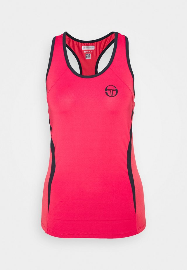 EVA TANK - Camiseta de deporte - rougered/navy