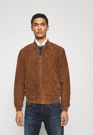 GUNNERS - Veste en cuir - country brown
