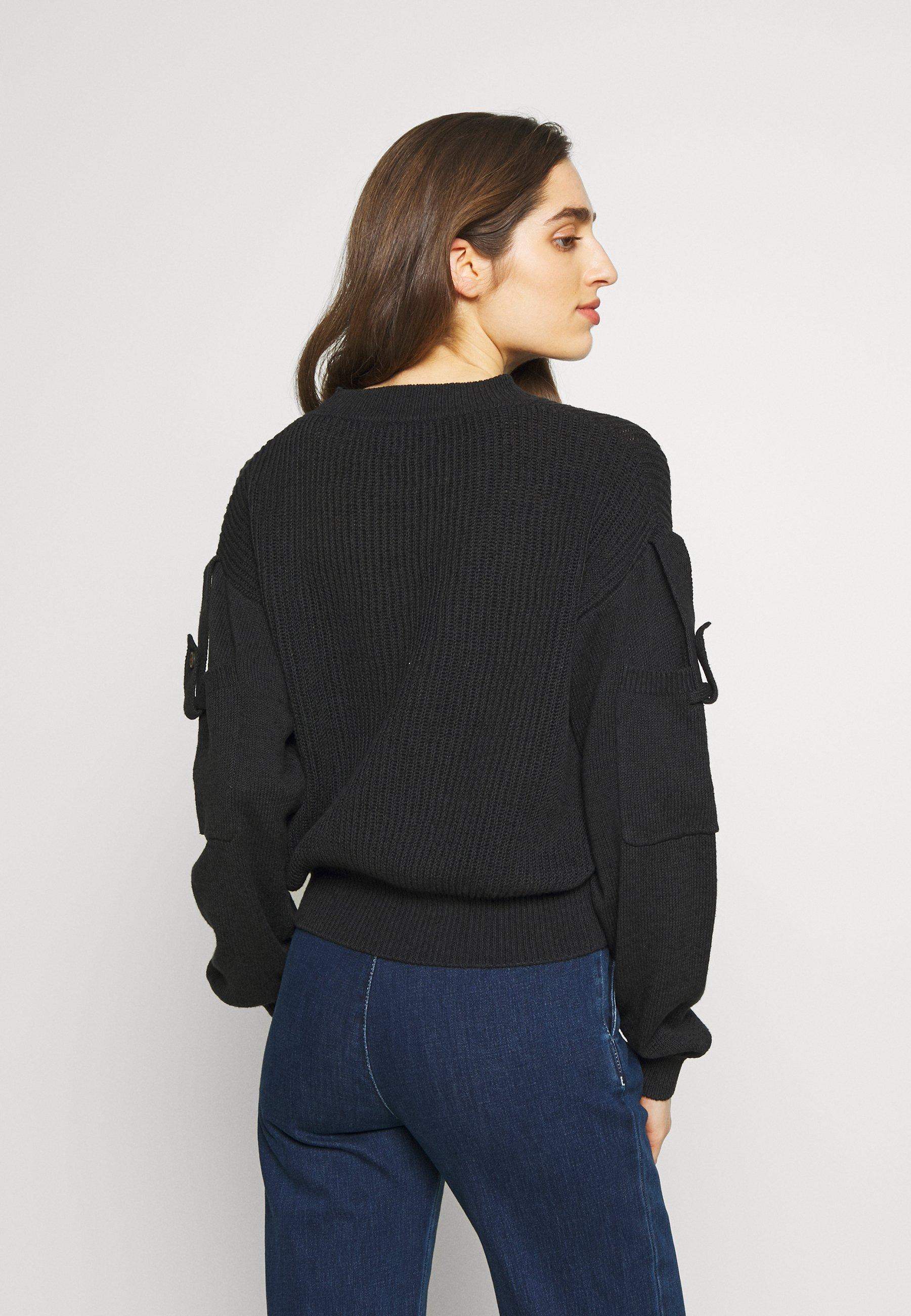 See by Chloé Stickad klänning obsidian black Zalando.se