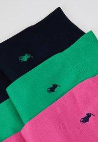 Polo Ralph Lauren - MERC SOLI CREW 3 PACK - Sukat - pink/navy - 2