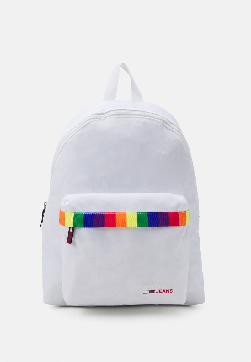 Tommy Jeans - CAMPUS DOME BACKPACK PRIDE UNISEX - Rucksack - white