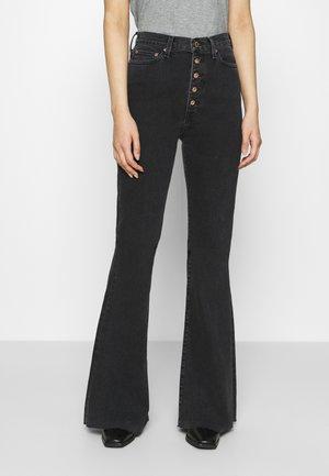 NINA - Flared Jeans - black stone