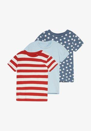 NBMDENME 3 PACK - Print T-shirt - sterling blue