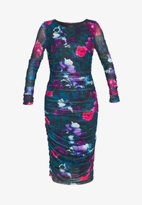 Apart - PRINTED DRESS - Robe en jersey - petrol/multi-coloured - 4