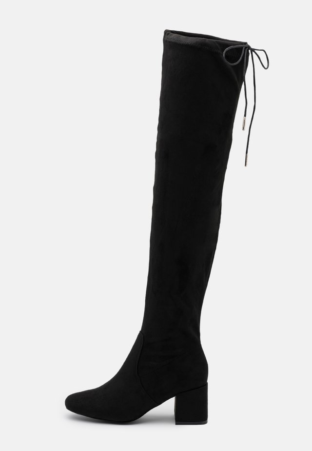CANBERRA STRETCH BLOCK HEEL - Over-the-knee boots - black