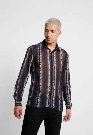 BARBED WIRE PRINT - Shirt - black