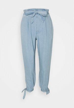 PAPERBAG TIE LEG JOGGER PANT - Trousers - ecru denim