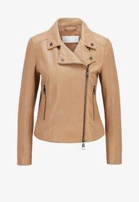 BOSS - SAJUANA - Leather jacket - beige - 0