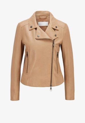 SAJUANA - Leather jacket - beige