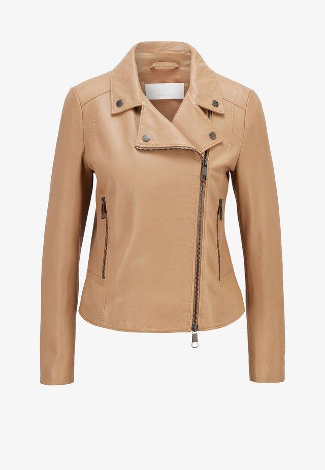 SAJUANA - Leather jacket - beige