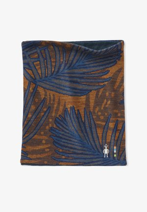MIDWEIGHT 250 DRAPE NECK HOODIE - Scarf - deep navy palm