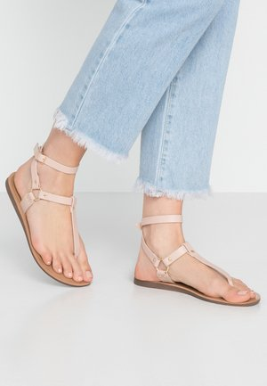ONLMAYA ANKLE WRAP - T-bar sandals - nude
